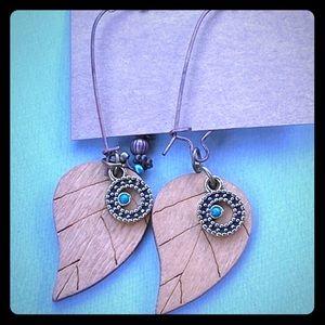 Birchwood hook earrings